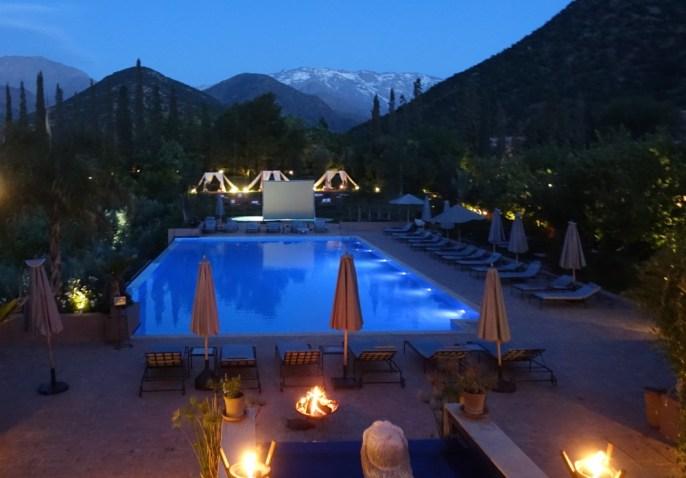 Kasbah Tamdot pool night