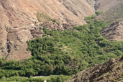 Hiking in the High Atlas terraced village