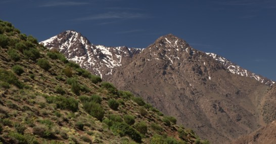 Hiking in the High Atlas Toubkal view
