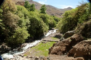 Hiking in the High Atlas river