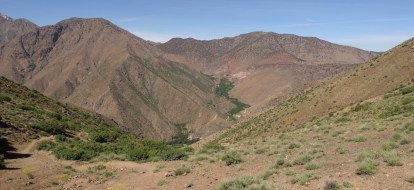 Hiking in the High Atlas mountain pass