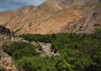 Hiking in the High Atlas oasis