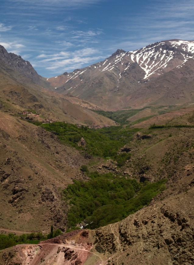 Hiking in the High Atlas trek uphill