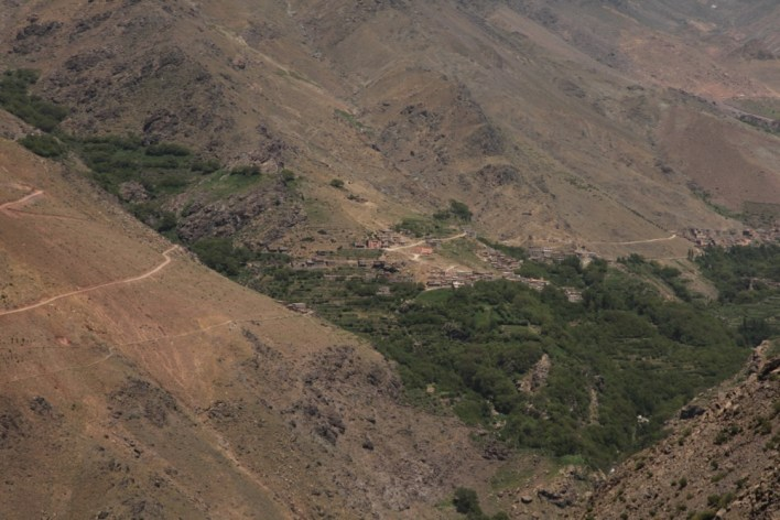 Hiking in the High Atlas trail view