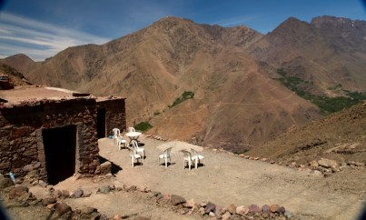 Hiking in the High Atlas Tamatert pass bar