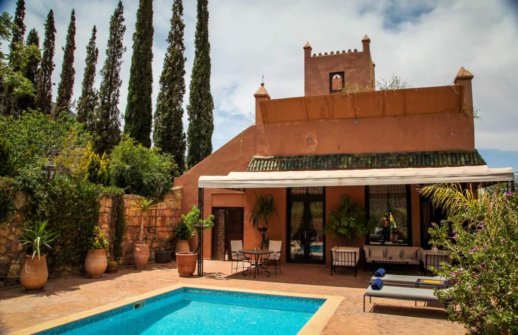 Kasbah Tamadot Master Suite covered terrace
