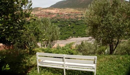 Kasbah Tamadot Master Suite bench view