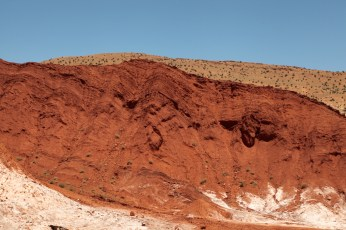 Morocco red rock