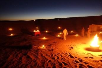 Dar Ahlam Tent Camp fires