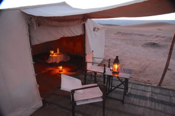 Dar Ahlam Tent Camp tent entrance