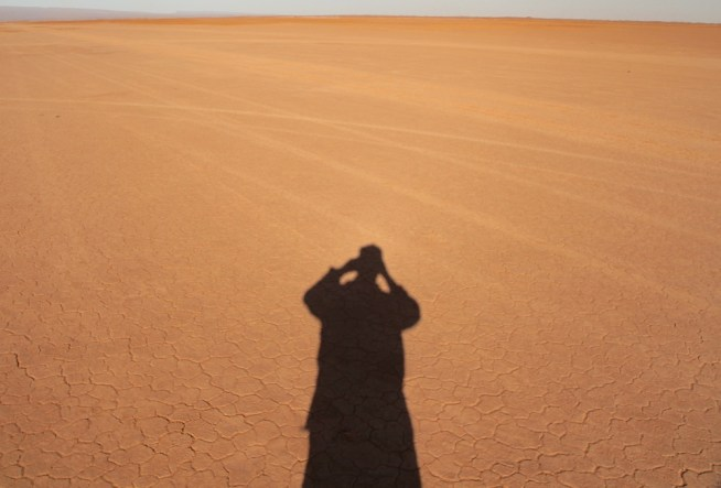 MOROCCO--INTO THE SAHARA desert shadow