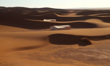 Dar Ahlam Tent Camp tents and dunes