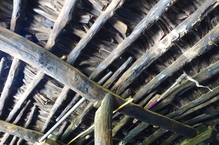 Armed Berber house rafters