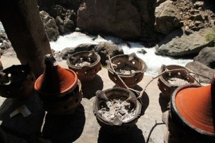Trek in High Atlas cooking