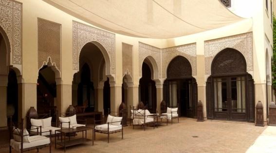 Villa des Orangers terrace lounge area