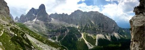 Trail to Rifugio Brent mountains