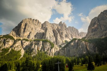 Then you duck down into the Colfosco and Corvara valleys.