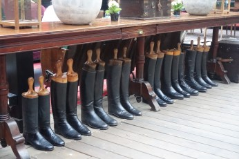 The Yard Milano boots display