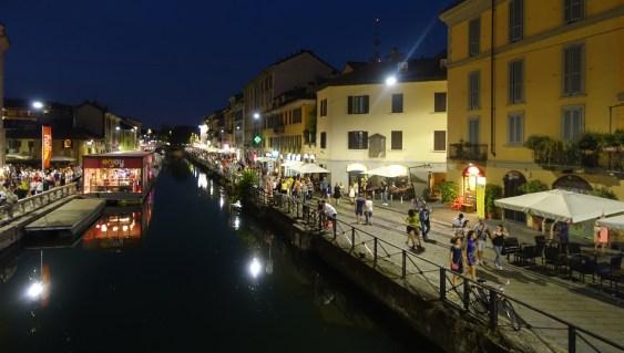Navigli at night canals