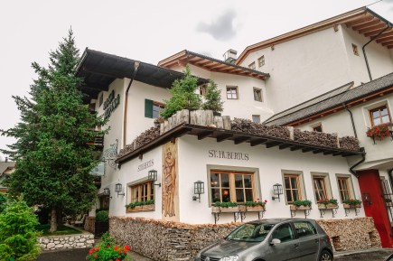 The St. Hubertus restaurant is nestled right under the arms of the rest of the hotel.
