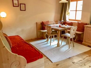 Rosa Alpina junior suite sitting area
