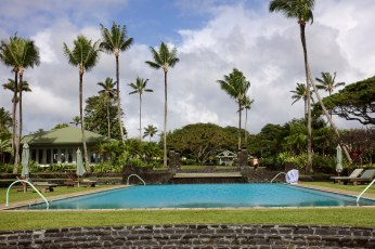 Travaasa Hana pool and palms