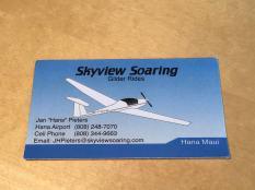 Skyview Soaring Hana business card