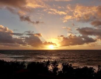Travaasa Hana bungalow sunrise view