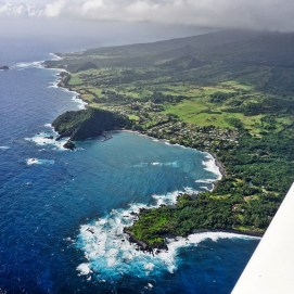 Flying over Hana Travaasa