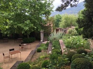 Bastide de Moustiers breakfast terrace