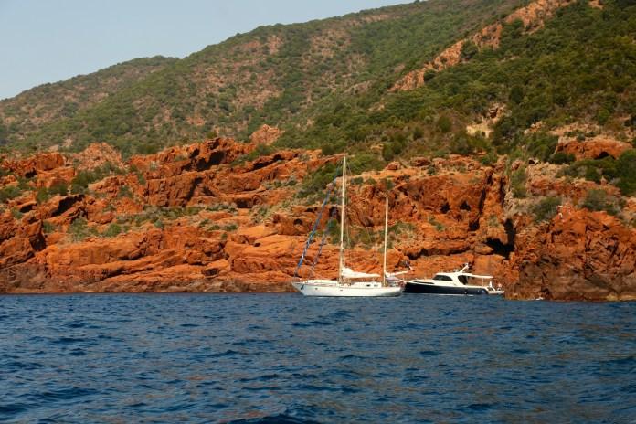 Scandola Nature Reserve sailboats