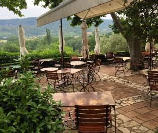 Bastide de Moustiers dining terrace