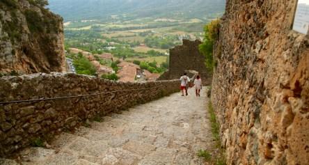 Moustiers-Ste-Marie steep steps