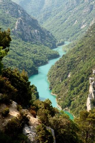 Gorge du Verdon green river