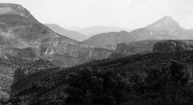 Gorge du Verdon black and white