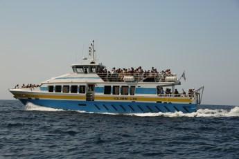 Scandola Nature Preserve big tour boat