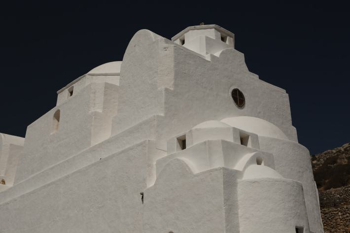 Church of Panagia in Chora, Folegandros arches