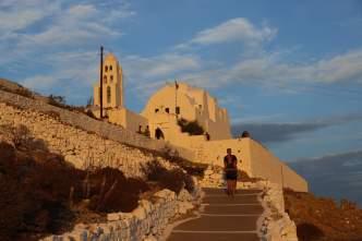 Church of Panagia in Chora, Folegandros golden hour
