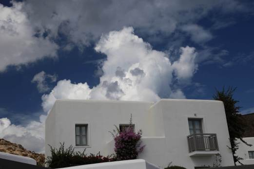 Anemi Hotel clouds and buildings