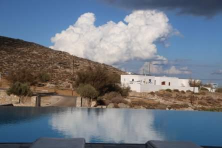 Anemi Hotel pool clouds