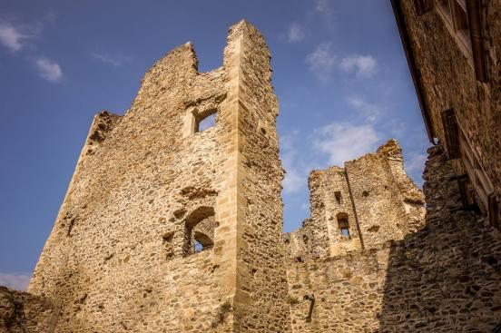 Saissac Cathar castle ruins