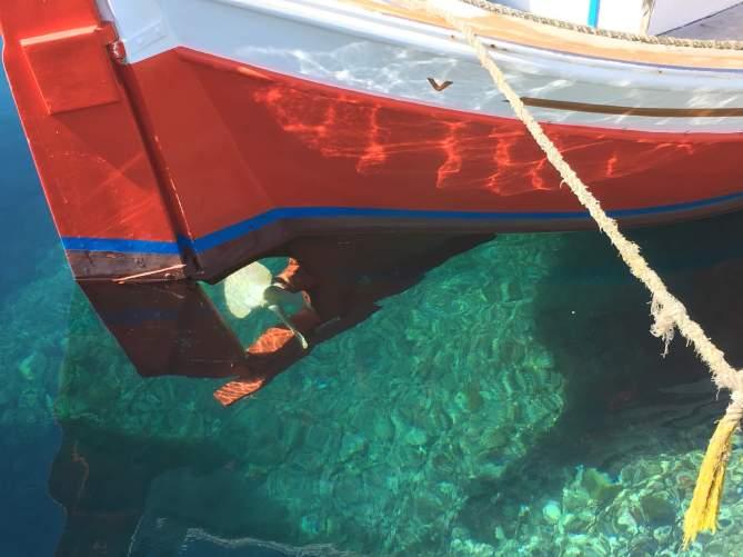 Karavostasi Folegandros clear water