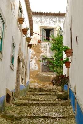 Obidos castle alley way
