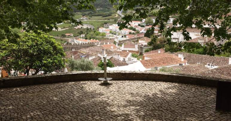 Obidos castle town view