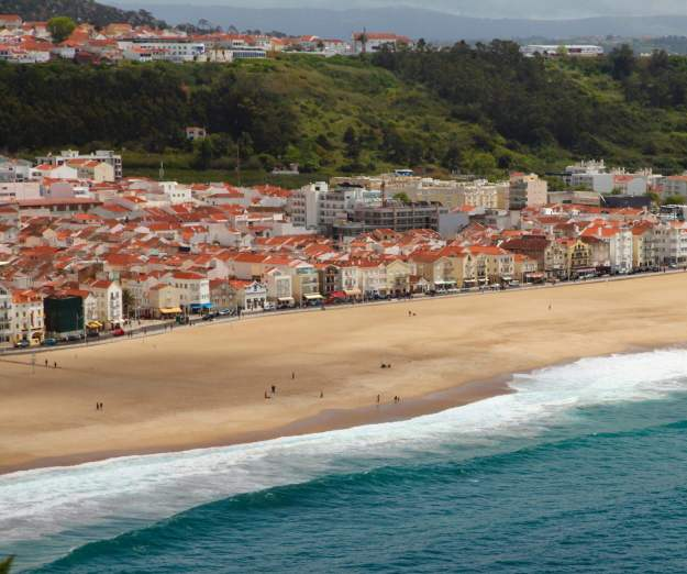 Nazaré view from O Sitio