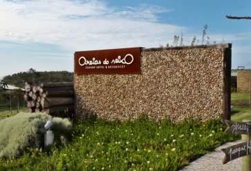 Areias do Seixo entrance sign