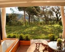 Sant Pere del Bosc terrace room view