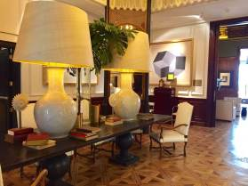 Cotton House Barcelona lobby lamps
