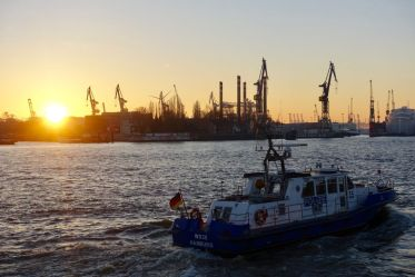 River Elbe at sunset