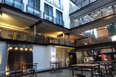 Gastwerk Hotel Hamburg interior atrium